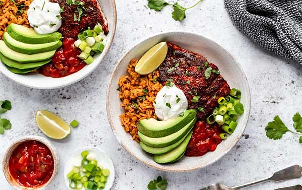 Healthy Salmon Taco Bowl